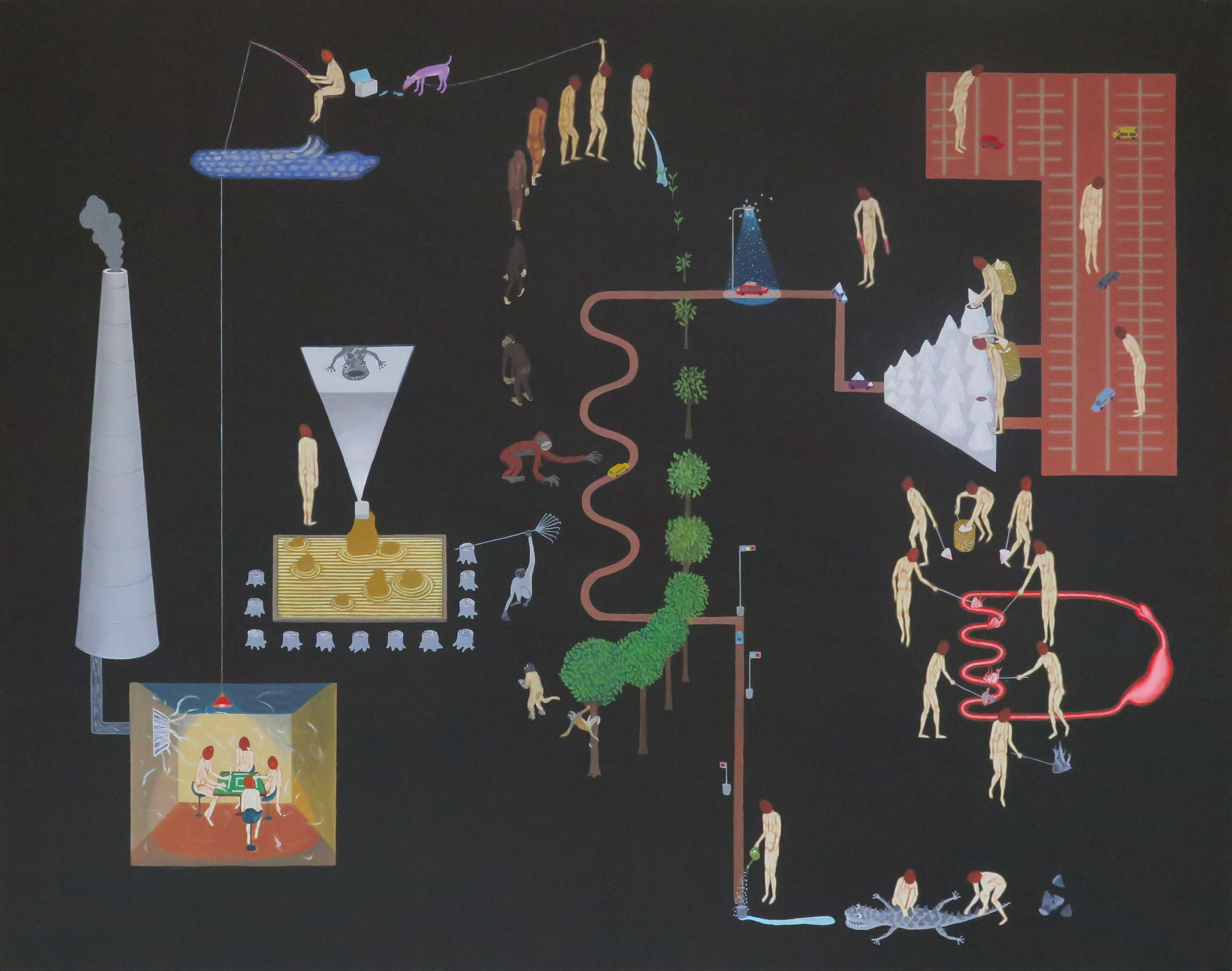 Gallery2 Diagram Of Power Plant Coconut Heads On The Coal Fired 2018 48x60 Inch